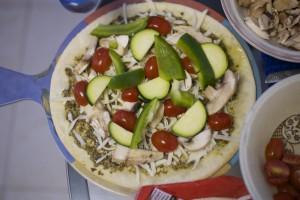 Crispy Veggie Gluten Free Pizza